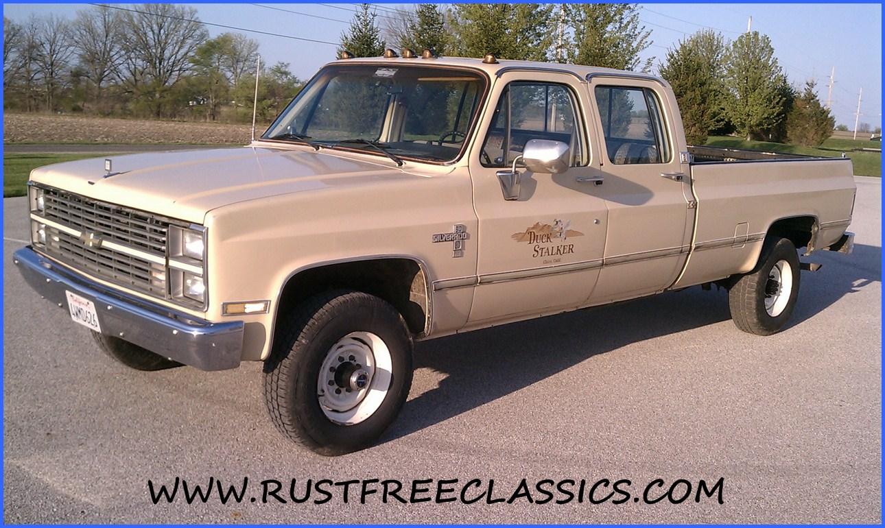 All Chevy 1987 chevy crew cab 4×4 : 1984 Chevy Silverado 4x4 crew cab 1 ton non dually 89000 tan 84